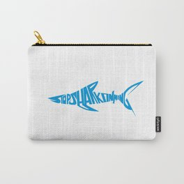 Stop Shark Finning (blue) Carry-All Pouch