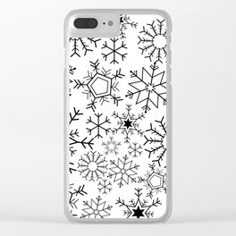 Snowflake pattern Clear iPhone Case