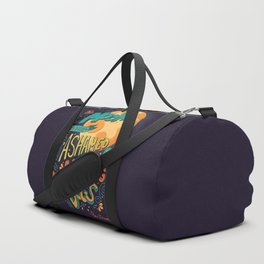 The moon is not ashamed by the barking of dogs inspirational quote, handlettering design Duffle Bag
