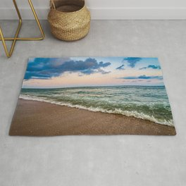 Sunset Crashing In Rug