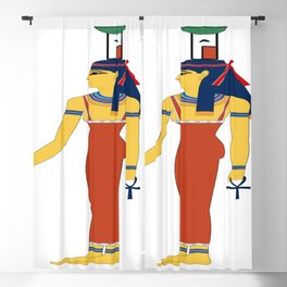 Ancient Egyptian deities Nephthys Blackout Curtain