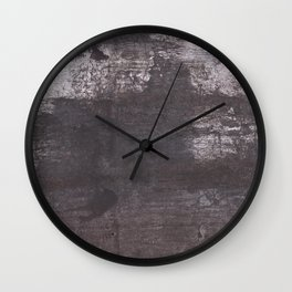 Dark slate gray Wall Clock