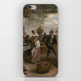 Jan Steen The Dancing Couple 1663 Painting iPhone Skin