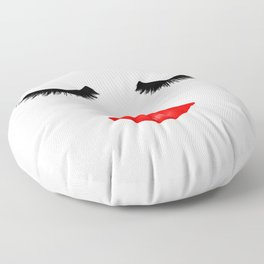 Lips and Lashes Floor Pillow