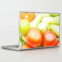 vegetables Laptop & iPad Skins featuring vegetables by Marcel Derweduwen