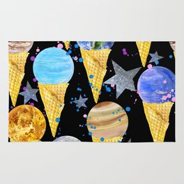Univers with Planet of the solar system. Rug