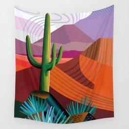 Thunderhead Builds in Arizona Desert Wall Tapestry