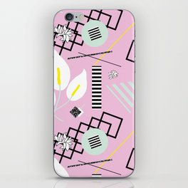 80's Calla Lily Floral iPhone Skin