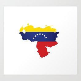 Venezuela - venezuelan heart - flag design Art Print
