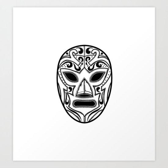 Mexican Wrestling Mask Art Print