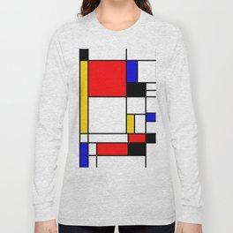 Bauhouse Composition Mondrian Style Long Sleeve T-shirt