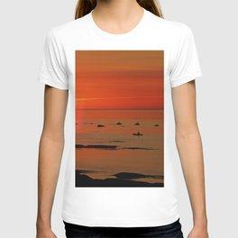 Kayaker and the Setting Sun T-shirt