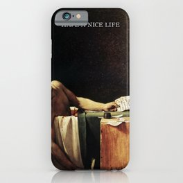The death of Marat with Have a Nice Life logo iPhone Case