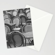 Chairs Under The Rain Stationery Cards