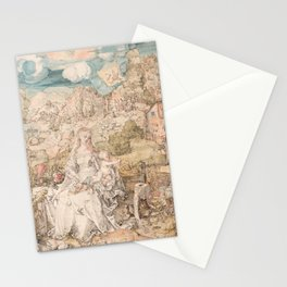 Albrecht Dürer - Mary among a Multitude of Animals Stationery Cards
