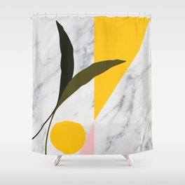 Tropical Marble Shower Curtain