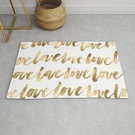 Gold Love Rug