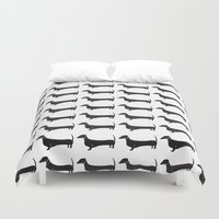 dachshund Duvet Covers featuring Dachshund by Andrea Raths