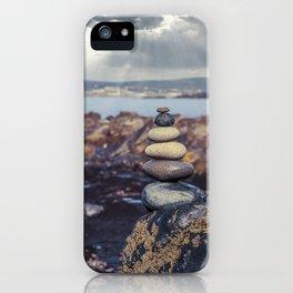 Rock Balancing At The Beach iPhone Case