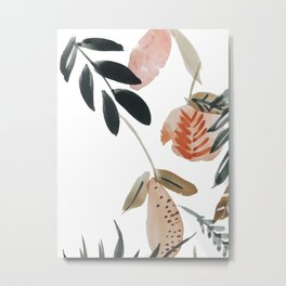 Pear Peach Orange Tree Metal Print