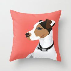 Dog - Jack Russell Throw Pillow
