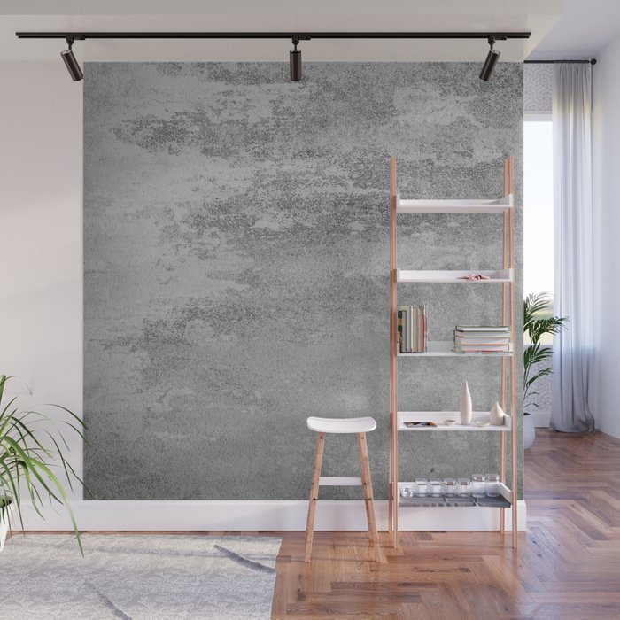 Simply Concrete Wall Mural by followmeinstead Society6