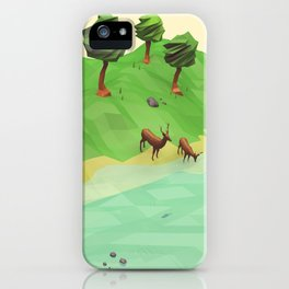Down River (Low Poly) iPhone Case