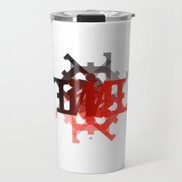 """Ambigram """"TIME"""" spiral Travel Mug"""