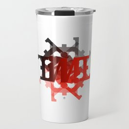"Ambigram ""TIME"" spiral Travel Mug"