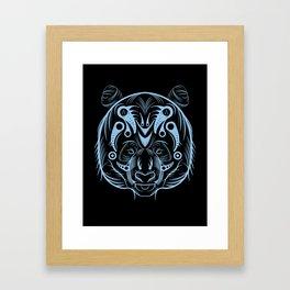 POLAR KUMA BLACK COLD BLUE : ANATOMY BRAND  Framed Art Print