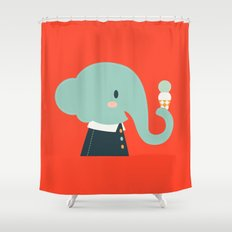 Mister Elephant Shower Curtain