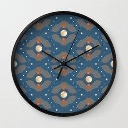 Itty Bitty Bats - Dusk Wall Clock