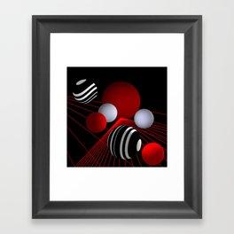 converging lines -3- Framed Art Print