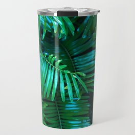 Green Palm Leaves Travel Mug