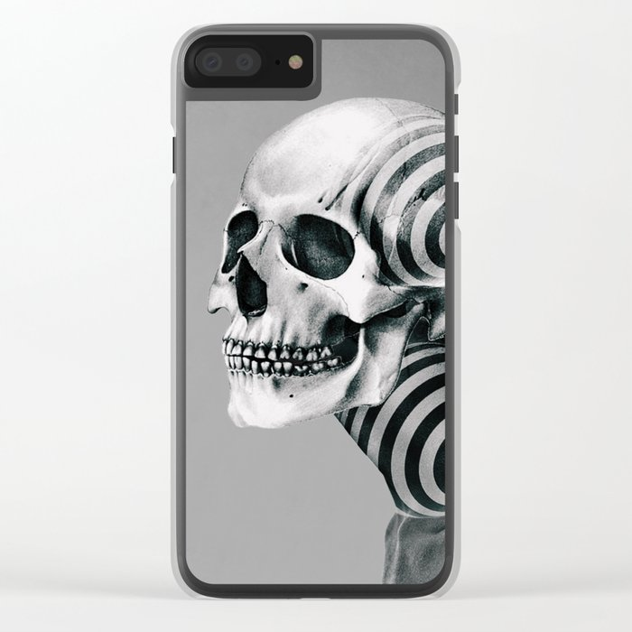 SKULL (Portrait) Clear iPhone Case