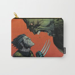 Wolverin Against Hulk Comic Poster Art Carry-All Pouch