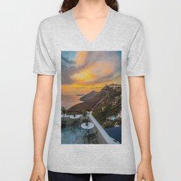 Gorgeous Santorini b Unisex V-Neck