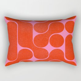 Abstract mid-century shapes no 6 Rectangular Pillow