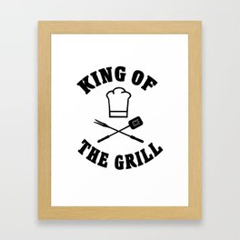 King of the grill father's day Framed Art Print