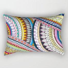 Colourful Pattern Mandala Rectangular Pillow