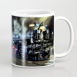 Signaling With Lantern. Lantern Up. UP 9000. Union Pacific. Steam Train Locomotive. © J. Montague. Coffee Mug