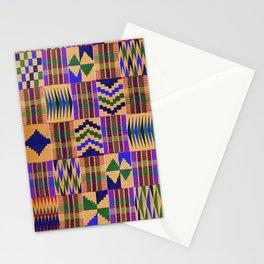 Kente Cloth // Anzac Yellow & Persian Blue Stationery Cards
