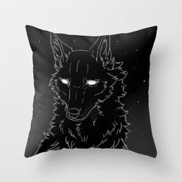 sad night Throw Pillow