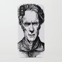 clint eastwood iPhone & iPod Cases featuring Clint Eastwood by Oriane Mlr