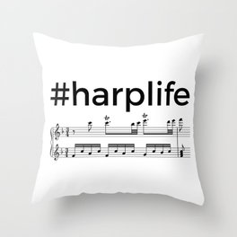 #harplife (2) Throw Pillow