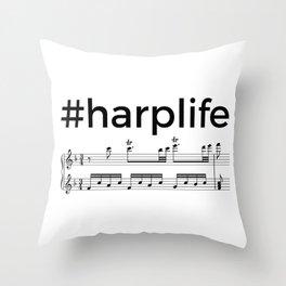#harplife (2) Throw Pillow