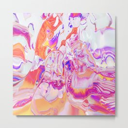 Candy Marble Metal Print