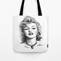marylin monroe Tote Bags featuring Marylin Monroe.... by Emiliano Morciano (Ateyo)