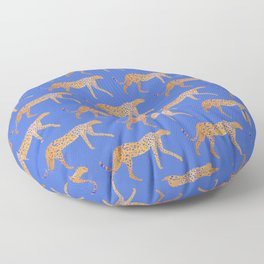 Leopard - Orange Floor Pillow