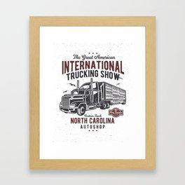 Big Truck Framed Art Print